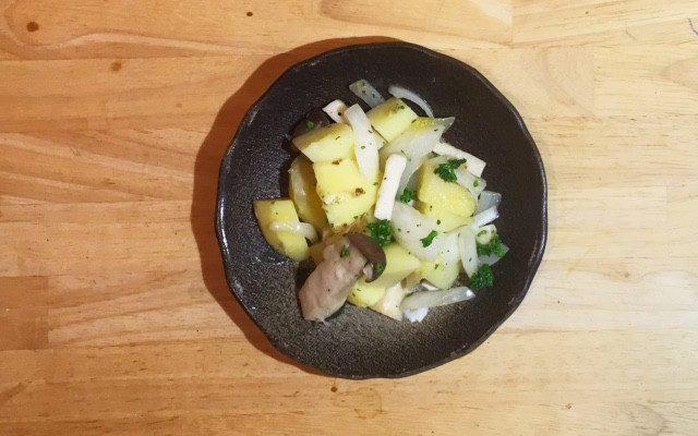 【番外】カンゾウの和風パスタ、豆キノコトマトスープほか