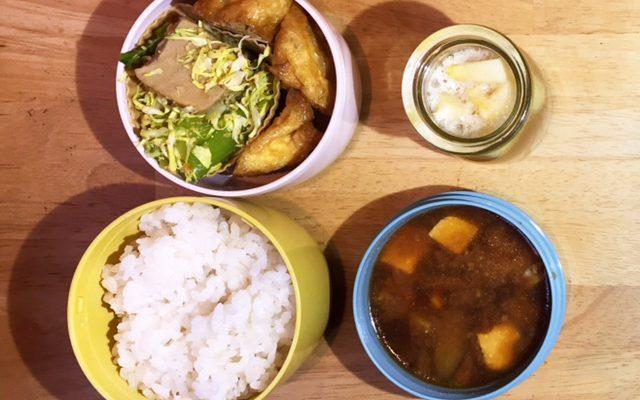 高野豆腐のゴマ和え風サラダ、リンゴゼリーほか