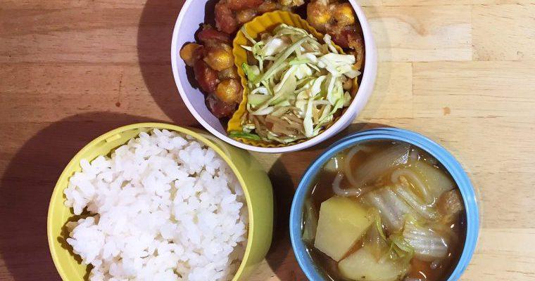 フライドビーンズ(ひよこ豆、落花生)、白菜ジャガほか