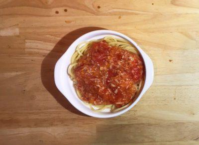 ベジミートソーススパゲッティ