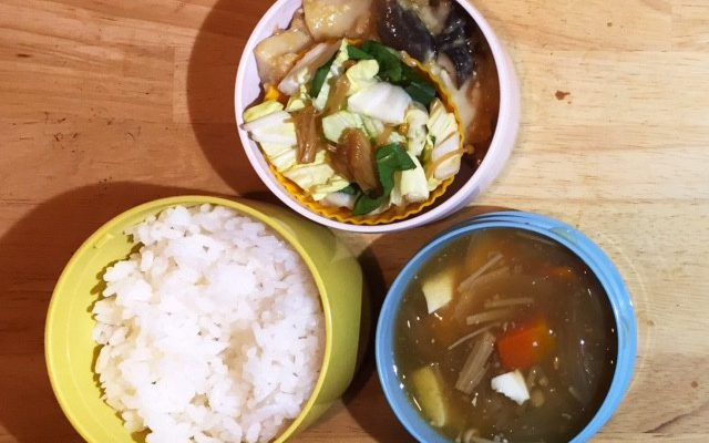 ごぼうと白菜のスープ