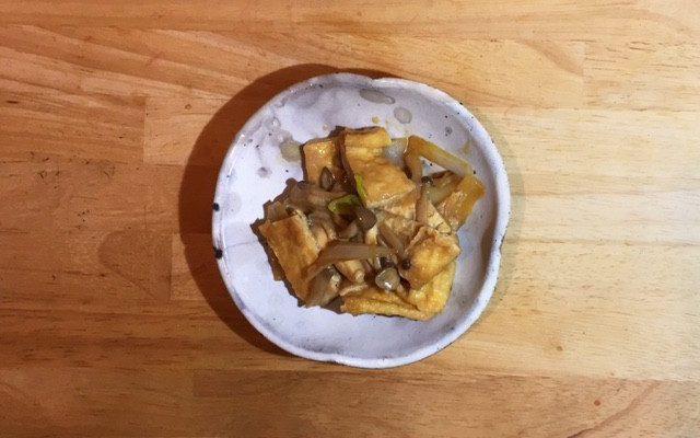 油揚げの豆乳味噌ソース