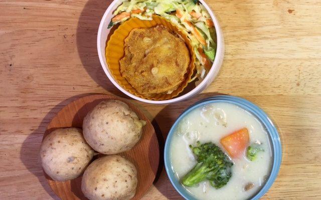 酵素玄米入りシンプルパン、米粉シチューほか
