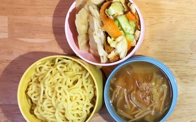 キムチラーメン、焼き餃子ほか