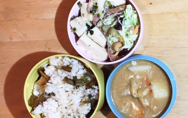 高野豆腐のネギ塩焼き、粕汁ほか